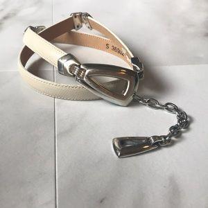 Brighton chain leather cream belt